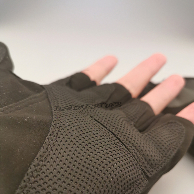 Tactical Hard Knuckle Half finger Gloves Men's Army Military Combat Hunting Shooting Airsoft Paintball Police Duty - Fingerless 6