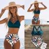 Sexy High Waist Bikini 2020 Halter Plus Size Swimwear Women Swimsuit Female Bikini Set Bodysuit Bathing Suit Summer Biquini XXL 1