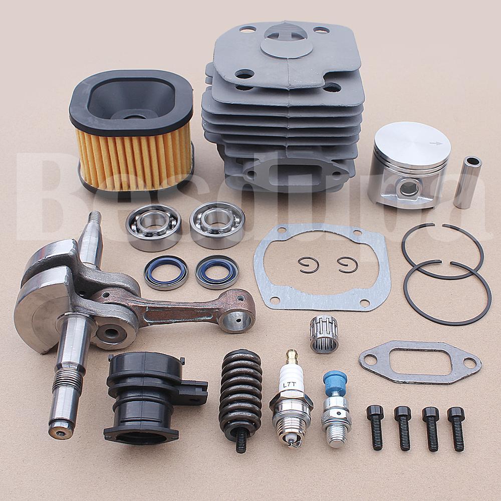 Tools : 50mm Cyliner Piston Crankshaft Kit For Husqvarna 362 365 371 372 372XP Chainsaw 503 93 93-72 503 74 87-01 w Needle Bearing