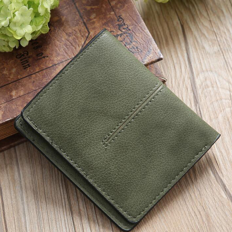 LKEEP Fashion Wallet Women PU Leather Wallets Female Coin Purse Short Deisgner Wallet Lady Magnetic Buckle Clutch Bag Solid 9cm
