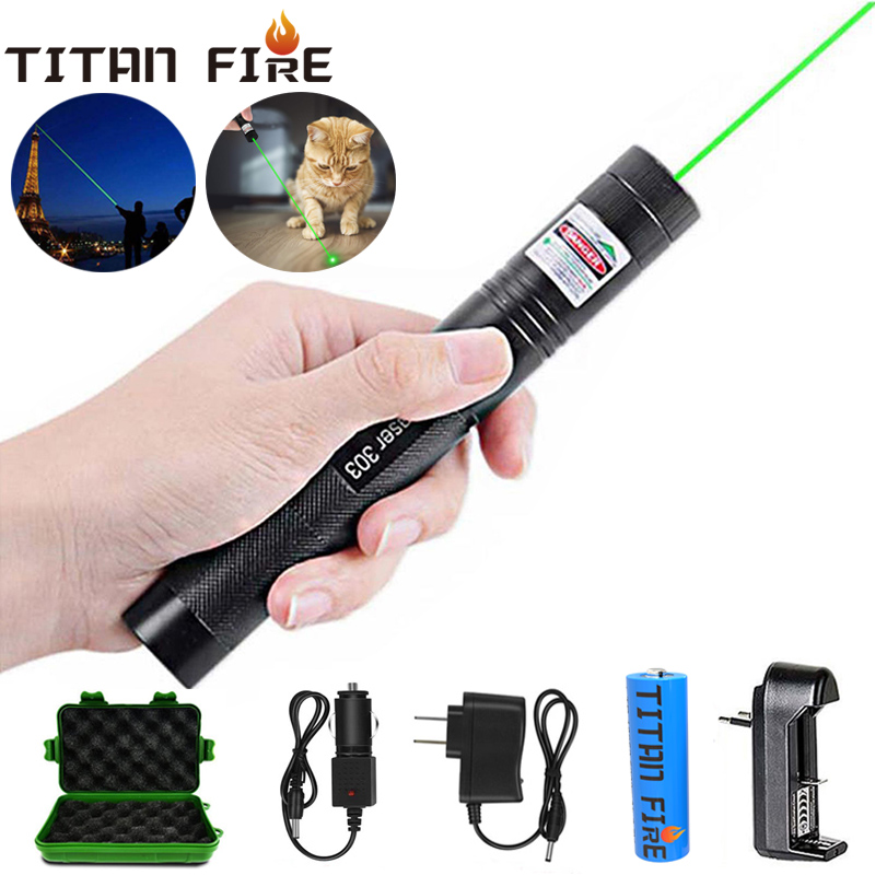 T20 Laser 303 Green Laser Pointer/Flashlight 532nm Pointer Verde Laser Pen Pointer Burning Laser Beam Pet Toy Laser Pointer 303