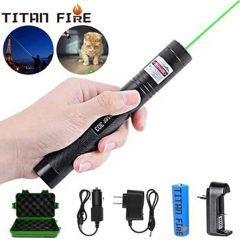 цена на T20 Laser 303 Green Laser Pointer/Flashlight 532nm pointer verde Laser Pen Pointer Burning Laser Beam Pet toy laser pointer 303