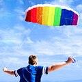 1.4 メートルデュアルラインパラシュート凧パラフォイルスポーツソフトウェアパラグライダーナイロンビーチスタント凧教育子供のおもちゃ
