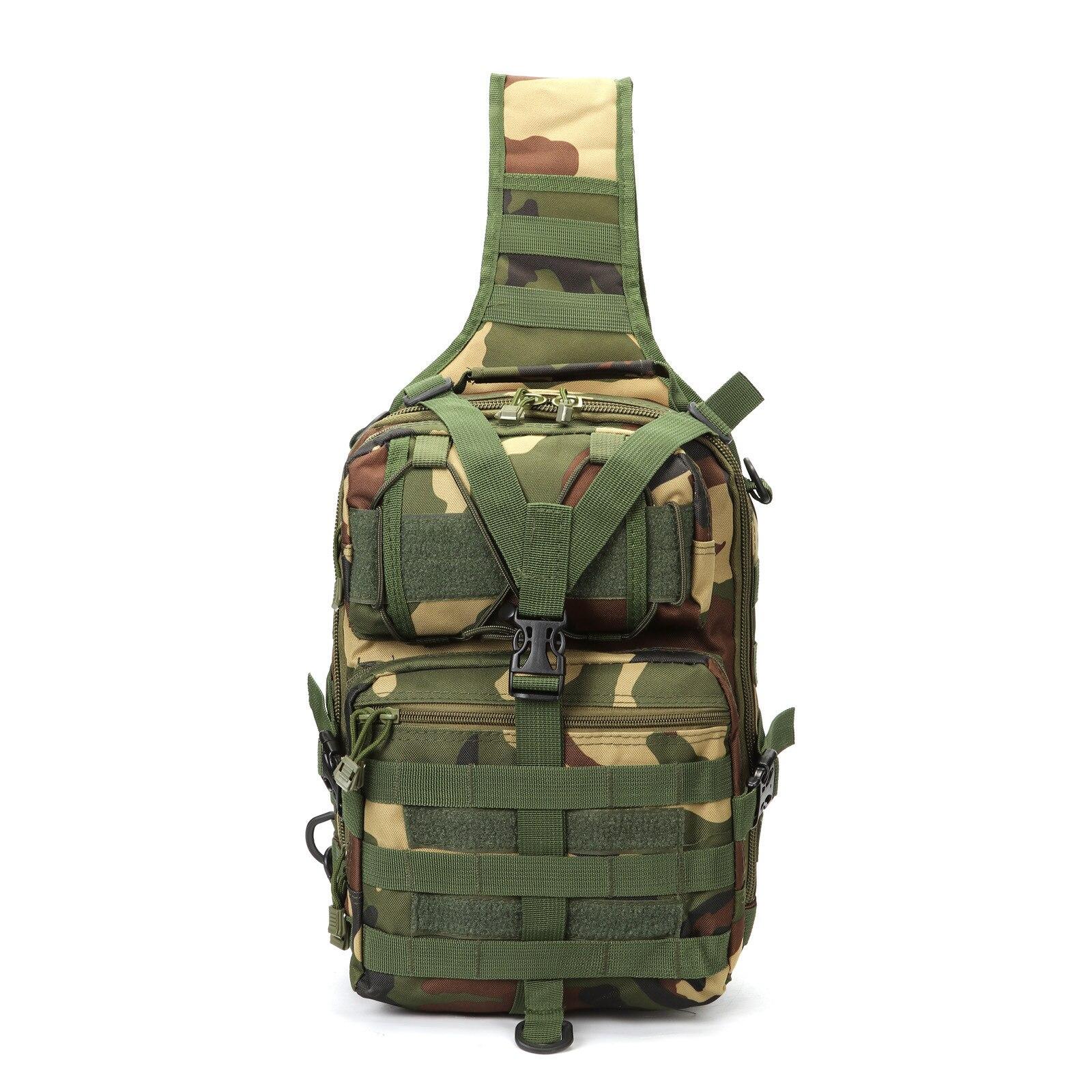 Sac à dos tactique pour hommes en plein air sac à bandoulière camouflage militaire nylon Molle armée sac à dos randonnée chasse sac de pêche 7 couleurs