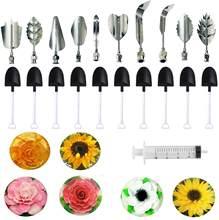 الزهور يترك ثلاثية الأبعاد هلام أدوات الرسم كعكة جيلو الفن الجيلاتين أدوات بودنغ فوهة