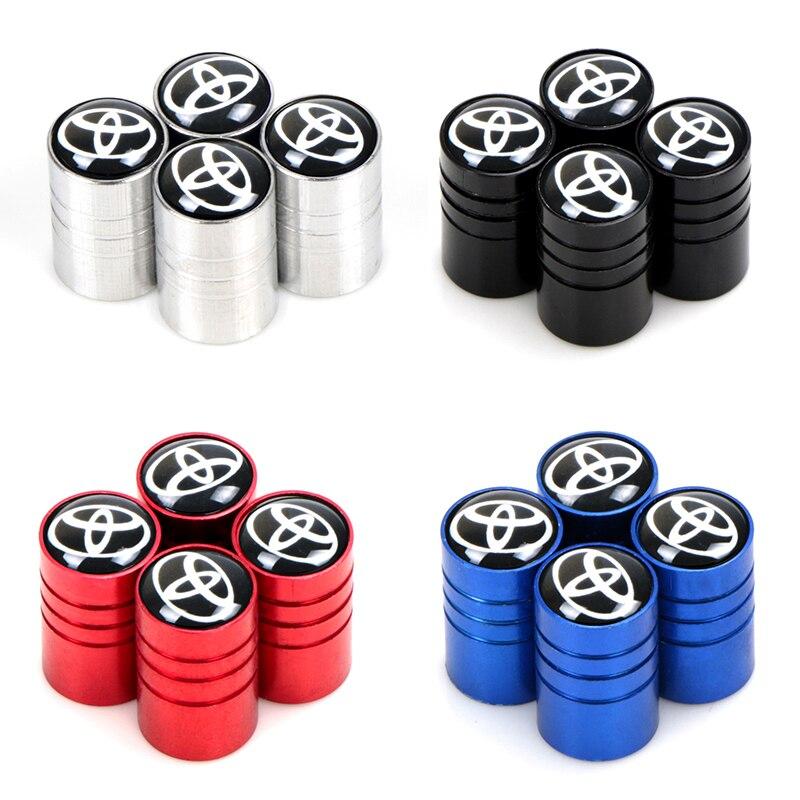 4 шт. шток клапана шины автомобиля крышки шины колпачки против пыли грузовика крышки клапана для Toyota avensis auris hilux Corolla Camry RAV4 автомобильный Ста...