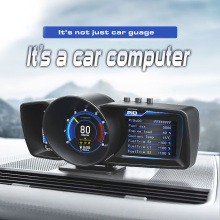 Alarm-System Dashboard Car Computer Auto-Gauge Smart-Speedometer Car-Hud-Obd2 Turbo-Boost