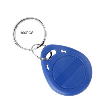 100 Pcs T5577 Em4305 Duplicator Clone Copy 125Khz Rfid Tag Porta Chave Card Sticker Keyring Token Ring Proximity Duplicate 10pcs lot 125khz t5577 cards t5557 em4305 card rfid smart card duplicator copy clone em4100 duplicate proximity rewritable