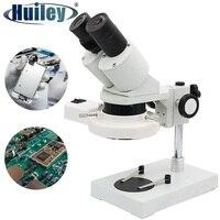 Microscopio Industrial estéreo iluminado, herramienta de reparación de soldadura para teléfono móvil, reloj, reparación de reloj, inspección PCB, 20x 40X