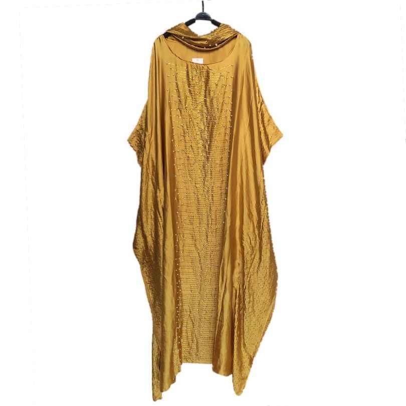 חדש אפריקאי שמלות לנשים דאשיקי vetement femme 2019 חלוק africaine bazin riche אנקרה בתוספת גודל שמלת אפריקאי ראש צעיף