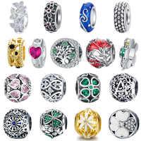 BISAER 925 Sterling Silber Herz Gravieren Herz Perlen Charms Fit Frauen Charme Armband Authentische 925 Silber Schmuck, Der Perle