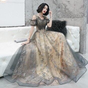 Off Shoulder Sexy Queen Evening Party Sequins Dress Formal Exquisite Dress Women Princess Dream Prom Gown Dresses Vestidos