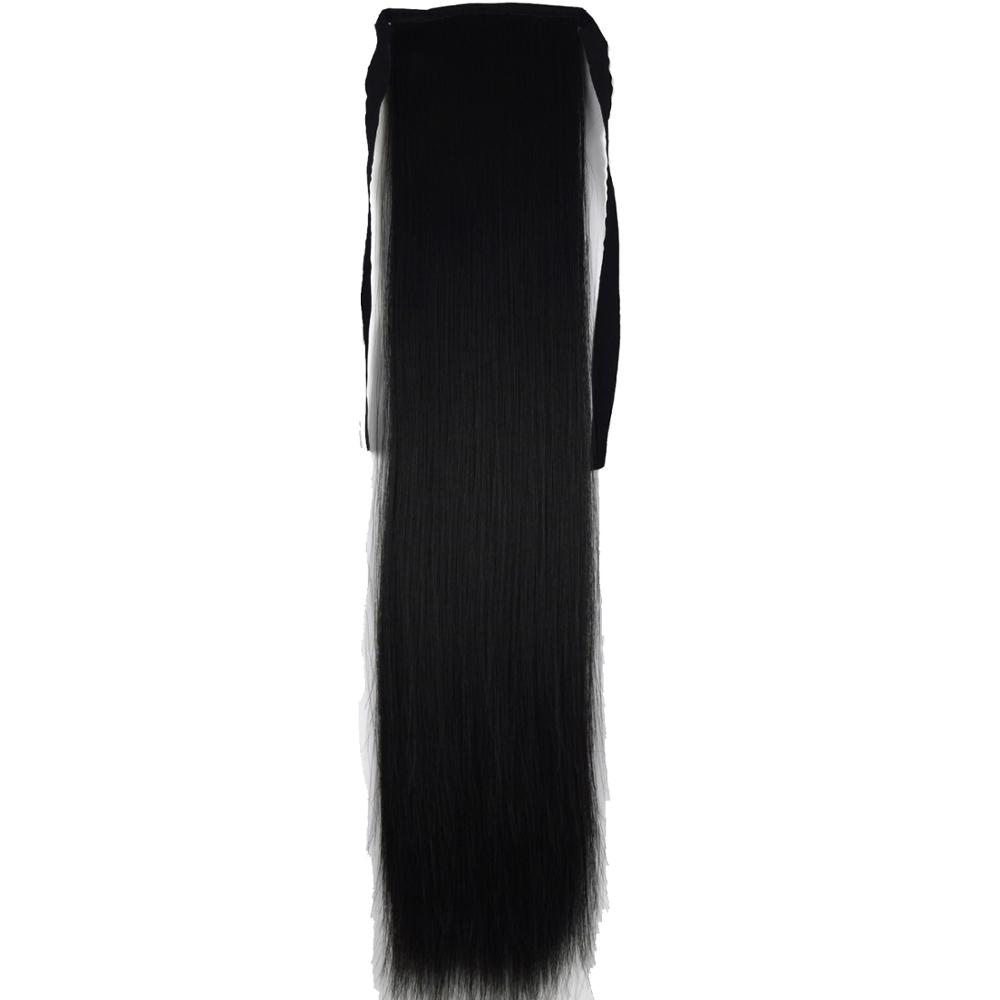 Heat Resistant Synthetic 90gr Straight Ribbon Ponytail Extensions 1006
