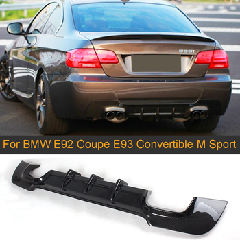 3 Serier Carbon Fiber Rear Diffuser Spoiler For BMW E92 E93 M Sport Coupe Convertible 2005-2011 335i Grey FRP Rear Diffuser Lip image