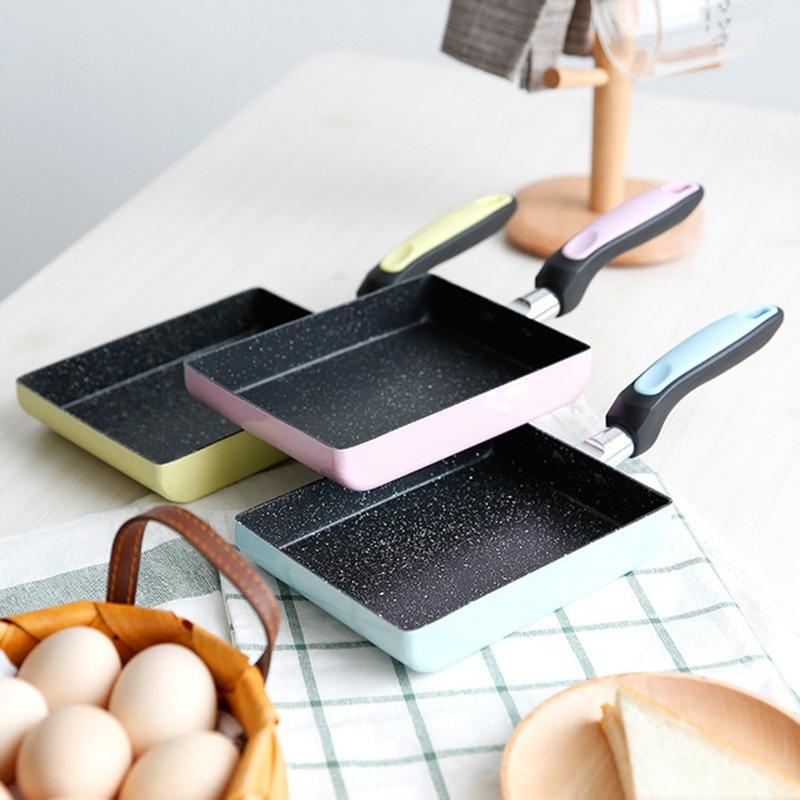 Frying Pan Non-stick Smokeless Pan Square Pan Frying Pan Maifan Stone Frying Pan Induction Cooker Gas Stove Universal