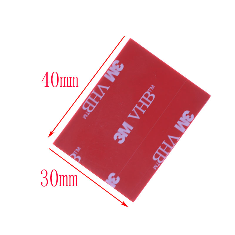 20pcs/3M Gray Tape Rubber Foam Double-sided Adhesive Strong Sticking Surface Red Gray Bottom Office Stationery Tape 30x40mm 5