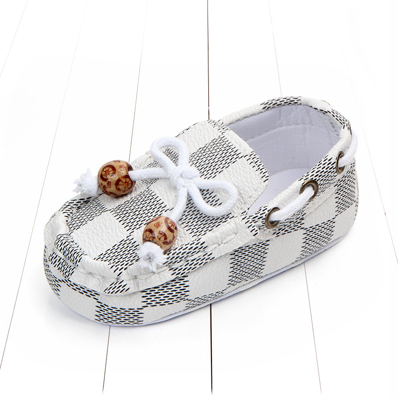 New fashion high quality newborn baby boy shoes moccasins Patch Slip-On plaid casual new born infant toddler baby girl shoes 5