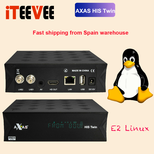 10pcs Satellite Receiver With 2x DVB S2 SAT Tuner Installed With Axas HIS Twin Linux E2 Open ATV 6.2 TV Box Replace ZGEMMA