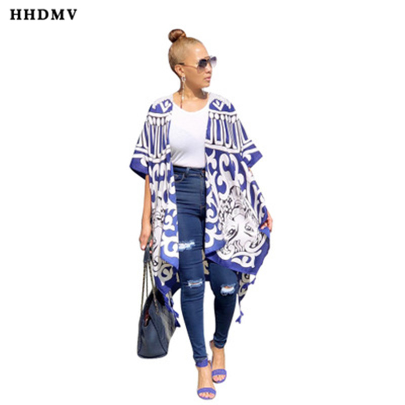 HHDMV YF-8050 fashion restoring ancient ways style coat half sleeve no buttons printed simple comfortable colorful thin coat