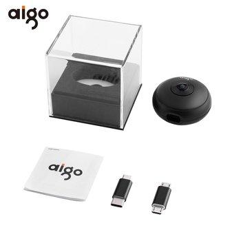 Aigo Mini Ai360 VR Phone Panoramic Camera 720 Degree Video Camera Dual Lens with Dual Adapters Connectors For Smartphone