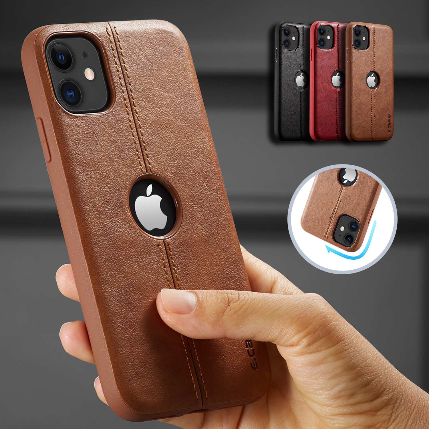 For iPhone 11 11 Pro 11 Pro Max Case New SLIM Luxury Leather Back Case Cover Innrech Market.com