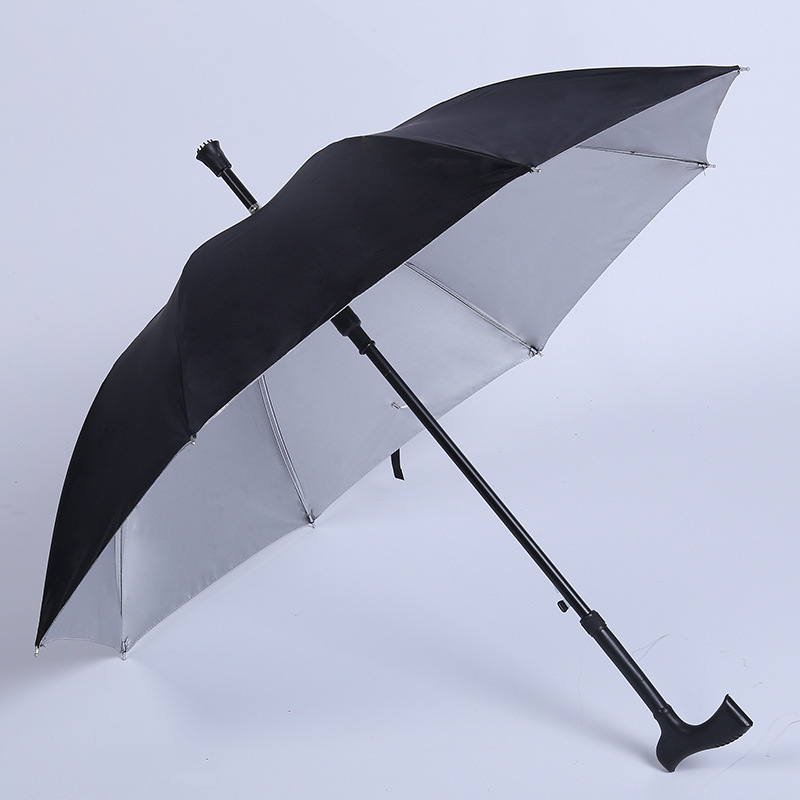 Foreign Trade Hot Selling Outdoor Mountaineering Umbrella Anti-slip Stick Umbrella Multi-functional Creative Old Man Umbrella Se