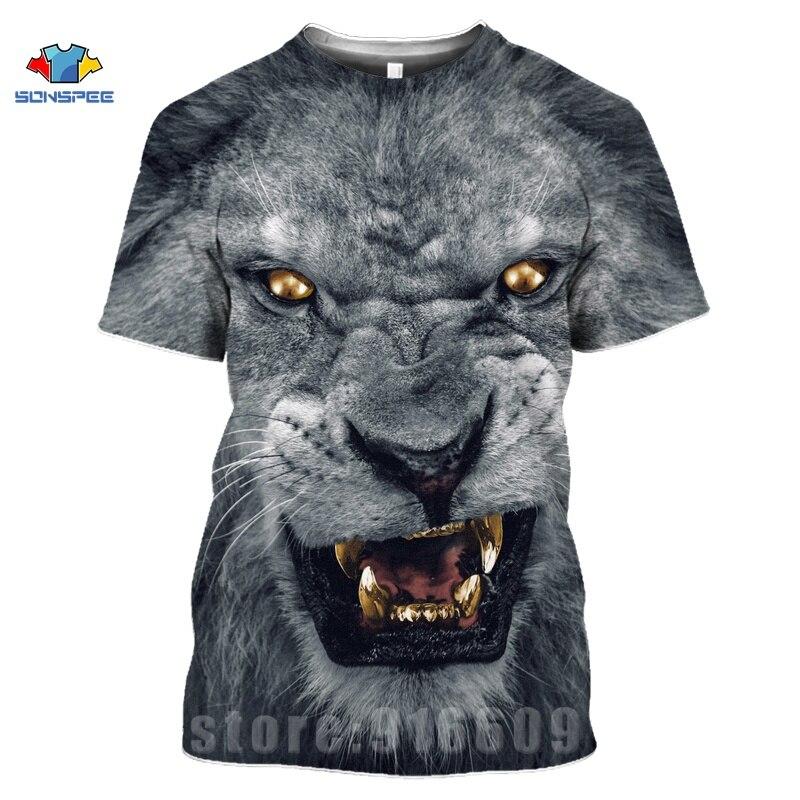 Animal Tiger Face Shirts 3D Print Horror Lion T shirt Streetwear Kid Men Women Fashion T-shirt Harajuku Shirts Homme King Tshirt (3)