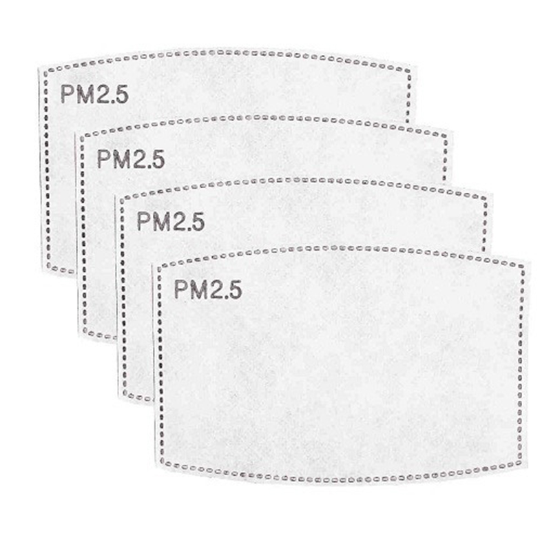 PM2.5 Mask Filter For Adults Kids 5-Layer Filtration 100/50/30/20/10PCS Face Masks Activated Carbon Filter 5
