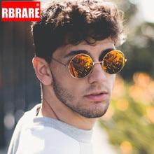 RBRARE New Round Sunglasses Women Optical Lens Glasses Metal Frame Colorful Mirror Sun Men Vintage Transparent