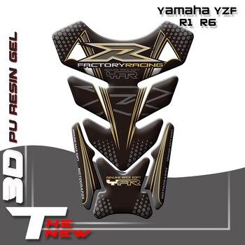 Nueva pegatina 3D para motocicleta, emblema de protección, almohadilla de tanque, pegatina de hueso de pescado para Yamaha YZF R1 R6