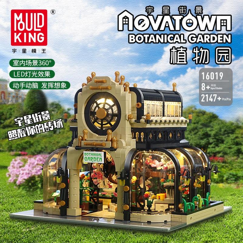 Garden-Bricks Toys Building-Blocks City Creator Expert Botanical Led-Light MOC Street-Model-Kit