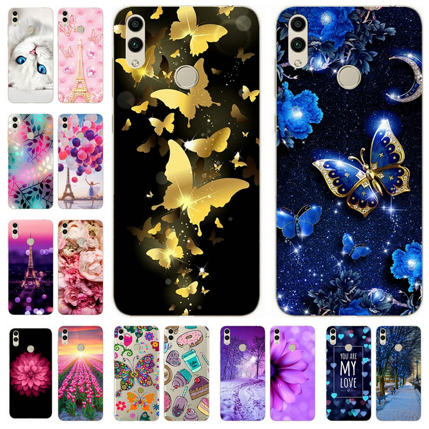 Silicone Cover For Huawei Honor 8c 8x Case Printing Cute Phone Case For Huawei Honor 8x 8c Fundas Coque Bumper Back Cover