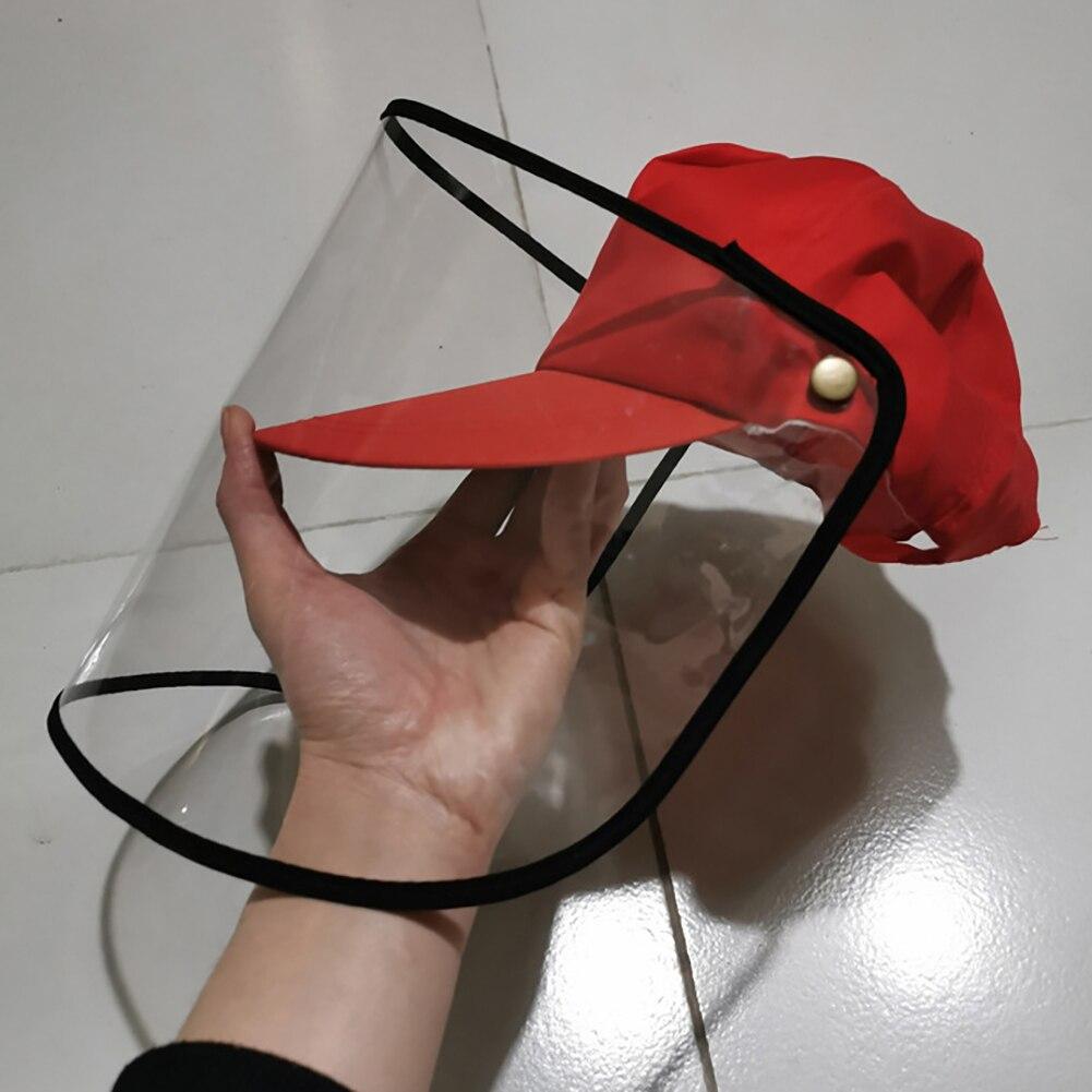 Protection Fisherman Hat Transparent Windproof Dustproof Anti-fog Full Face Masks Antivirus Hat For Outdoor Use 53-60 CM