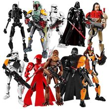 Single Sale Star Wars Building Block Han Solo Luke Darth Vader Yoda Leia R2d2 Toys Compatible Starwars Figures darth sidious with lightsaber xinh 205 starwars darth vader star wars minifigures building block toys for children lepin