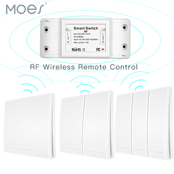 цена на 433 Mhz Wireless AC 110V 220V Remote Control Switch RF Relay Receiver + RF 433Mhz 86 Type Wall Panel Remote Switch