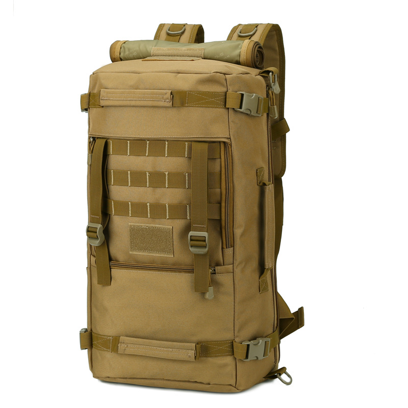 Outdoor Large Capacity Travel Mountaineering Bag Camouflage Tactical Backpack 50 Litres Hiking Multi-functional Shoulder Large B