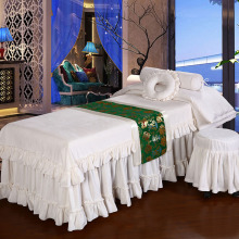 Solid Color Beauty Salon Massage Bed Cover Four Sets Of Universal Custom Sheets White Quilt Cotton