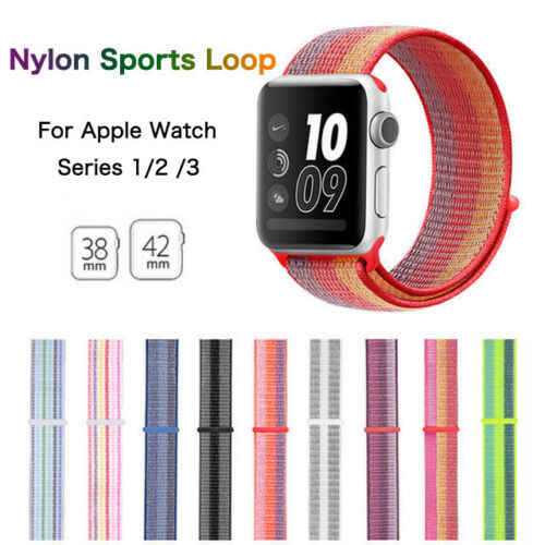 Strap For Apple Watch 4/3/2/1 Smartwatch Bracelet Replacement Band New Colors Breathable Nylon Sport Loop For Iwatch Accessories