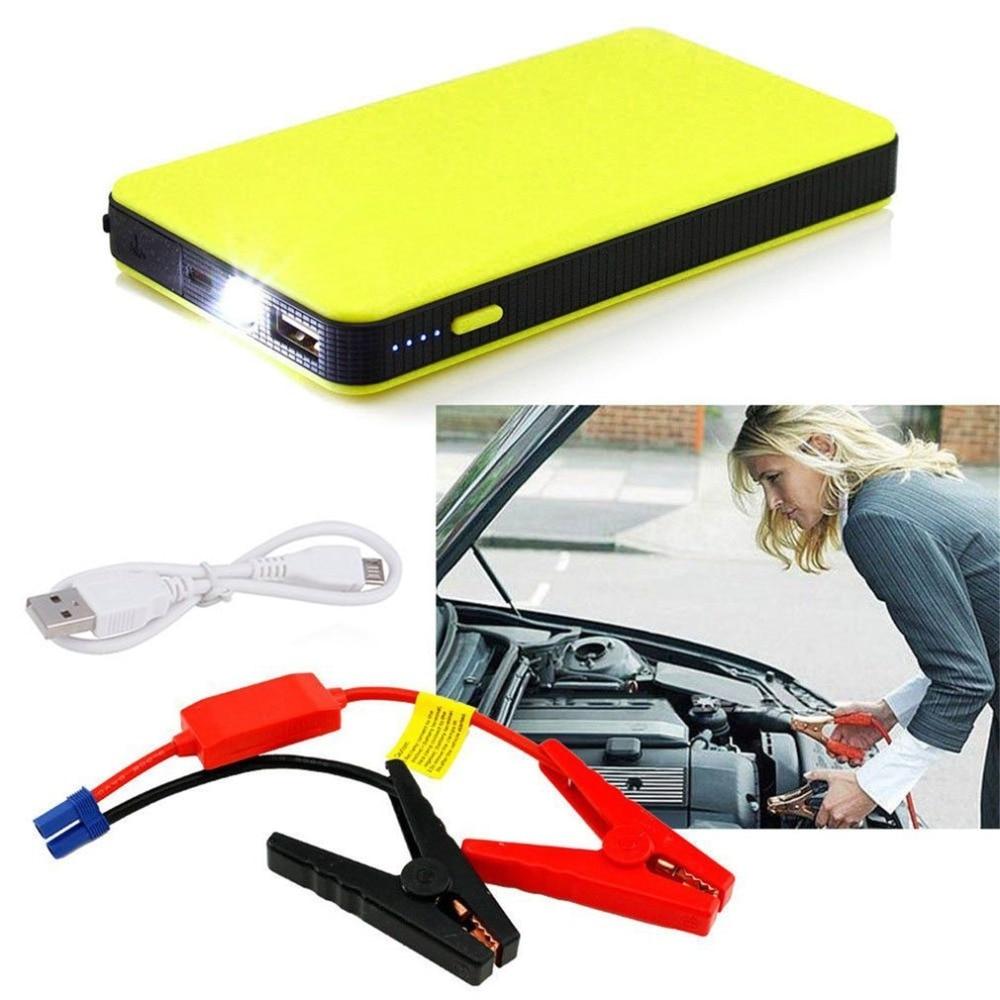 5 Color 12V 20000mAh Car Power jump Start Auto Motor EPS emergencia inicio batería fuente cargador ordenador portátil utral-thin caliente