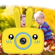 Новая цифровая мини камера с заячьими ушками 1080p Детская мультяшная
