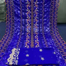 2021 New arrival African Bazin riche Getzners Fabric with Stones Embroidery French Basin Riche Nigerian Material Wedding Party