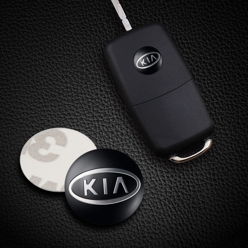 10PCS 14mm Remote Key Emblem Logo Sticker For Kia Ceed Rio Sportage R K3 K4 K5 Sorento Cerato Decoration Decal Accessories