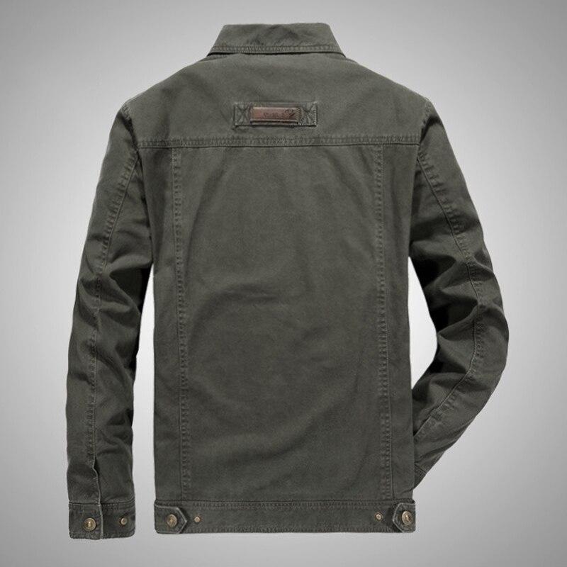 Новая весенняя мужская куртка размера плюс, высококачественная повседневная хлопковая верхняя одежда, бренд AFS JEEP, мужские куртки, ветровка...