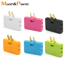 US Extension Plug Electrical Adapter 3 In 1 Adaptor 180 Degree Rotation Adjustable For Mobile Phone Charging Converter Socket