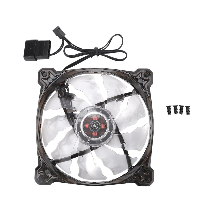 PC Computer 16DB Ultra Silent 12 LEDS 15 LEDs Case Fan Heatsink Cooler Cooling Pc Fan 120mm,12CM Fan,12VDC 3P IDE 4Pin