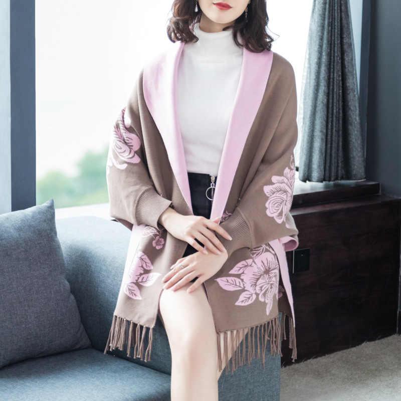 2019 осень и зима новый стиль корейский свитер женский кардиган с кисточками