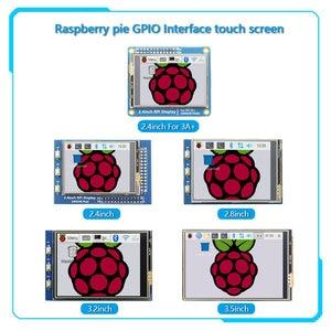 3.2/2.8/3.2/3.5 inch GPIO Series 2.4 inch/2.8 inch/3.2 inch/3.5 inch touch screen display for Raspberry Pi 4B 3B B+