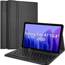 Suitable for Samsung Galaxy Tab A7 10.4-inch keyboard case 2020 synthetic leather stand function removable wireless keyboard