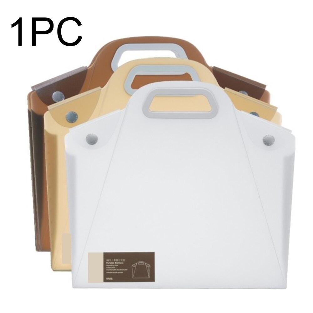 Free ShipöA4 Desktop Multifunction Storage Bag File Folder PP Expanding Organizer Document Stationery Student Home Office With Handle