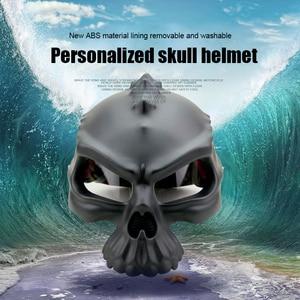 Image 2 - NEW Open Face Helmet Skull Motorcycle Helmet Retro Motorbike Half Face racing Helmet Moto Helmets